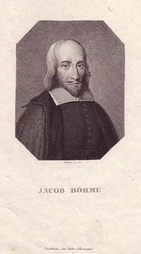 Brustbild im Achteck. Bezeichnung unterhalb der Darstellung: JACOB BÖHME.: B�hme, Jakob.