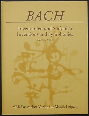 Inventionen und Sinfonien. Inventions and symphonies. BWV: Bach, Johann Sebastian.