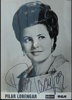 Original-Fotografie der Teldec (ca. 1965). Von Pilar Lorengar auf der Bildseite mit schwarzem ...