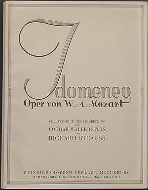 Idomeneo. Opera seria in 3 Akten von W. A. Mozart nach dem Italienischen des Abbate Giambatt. ...