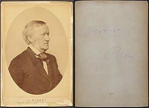 Original-Fotografie (Albuminabzug) von Joseph Albert mit rückseitigen eigenhändigen ...