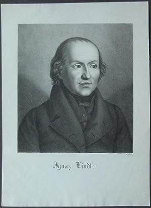Brustbild leicht nach rechts. Bezeichnung unterhalb der Darstellung: Ignaz Lindl.: Lindl, Ignaz.