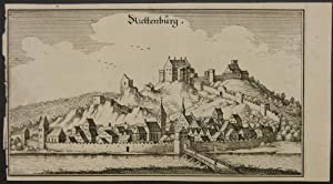 Riettenburg. Gesamtansicht von Riedenburg mit der Altmühl im Vordergrund.