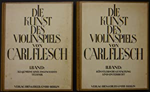 Die Kunst des Violinspiels. I. Band: Allgemeine und angewandte Technik. Zweite, erweiterte Auflage....