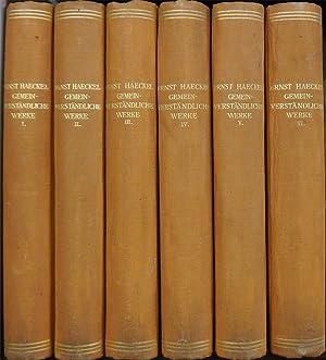 Gemeinverständliche Werke. Herausgegeben von Heinrich Schmidt-Jena.: Haeckel Ernst.