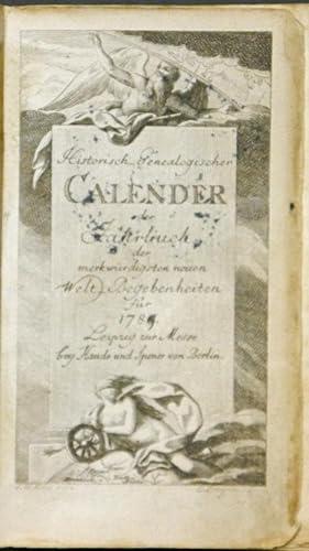 Historisch Genealogischer Calender oder Jahrbuch der merkwürdigsten