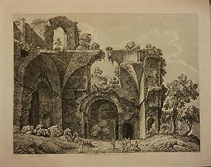 Avanzi della Biblioteca in Villa Adriana, di: Rossini, Luigi.