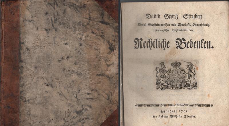 Rechtliche Bedenken.: Struben, David Georg
