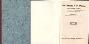 Nordische Rundschau.Vierteljahresschrift herausgegeben von den Auslandsinstituten der Universit&...