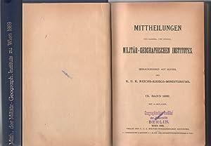 Mittheilungen des Kaiserl. und Königl. Militär-Geographischen Institutes - IX.Band 1889 &...