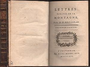 Lettres ecrites de la montagne. Seconde Partie.: Rousseau, Jean Jacques: