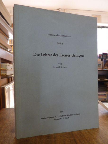 Nassauisches Lehrerbuch, Teil II (2): Die Lehrer: Bonnet, Rudolf,