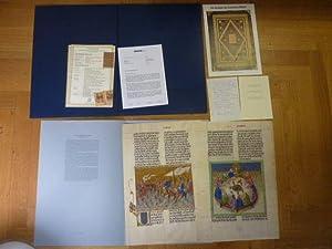 Informations- bzw. Werbemappe zum Faksimile 'Ottheinrich-Bibel', mit: Faksimile,