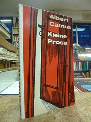 Kleine Prosa - Nobelpreisrede / Der Künstler: rororo 441, Camus,