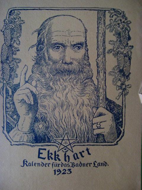 Ekkhart. Kalender für das Badner Land. 4.: Wingenroth, Max: