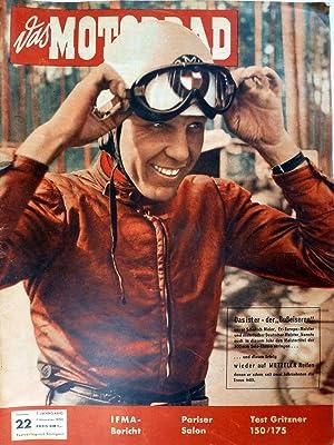 Das Motorrad. 5. Jahrgang Heft Nr. 22: Motor-Presse-Verlag Gmbh: