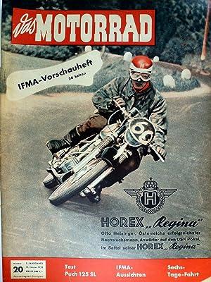 Das Motorrad. 5. Jahrgang Heft Nr. 20: Motor-Presse-Verlag Gmbh: