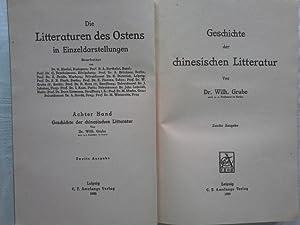 Geschichte der chinesischen Litteratur. Wilh. Grube: Grube, Wilhelm (Verfasser):