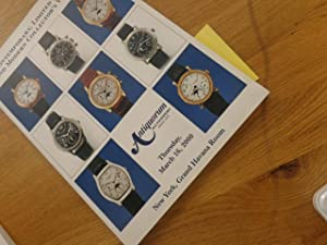 CONTEMPORARY, LIMITED EDITION AND MODERN COLLECTOR'S WATCH: Antiquorum Auctioneers