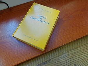 Tables de capitalisation: Wilhelm Stauffer, Marc