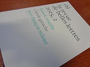 Revue Belles lettres No 2-2015, franck venaille,: Éditeur Revue Belles
