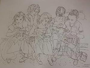 Spanische Kinder. Lithogr., num. 1/100, im St. bez., sign. u. dat., hs. sign. u. dat.