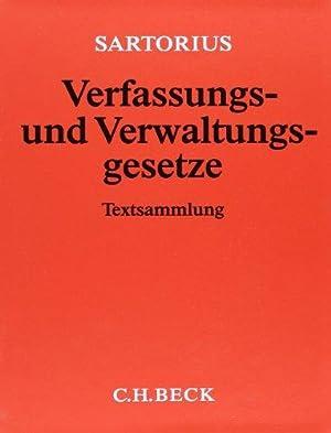 Verfassungs- und Verwaltungsgesetze 1 der Bundesrepublik Deutschland.: Sartorius, Carl: