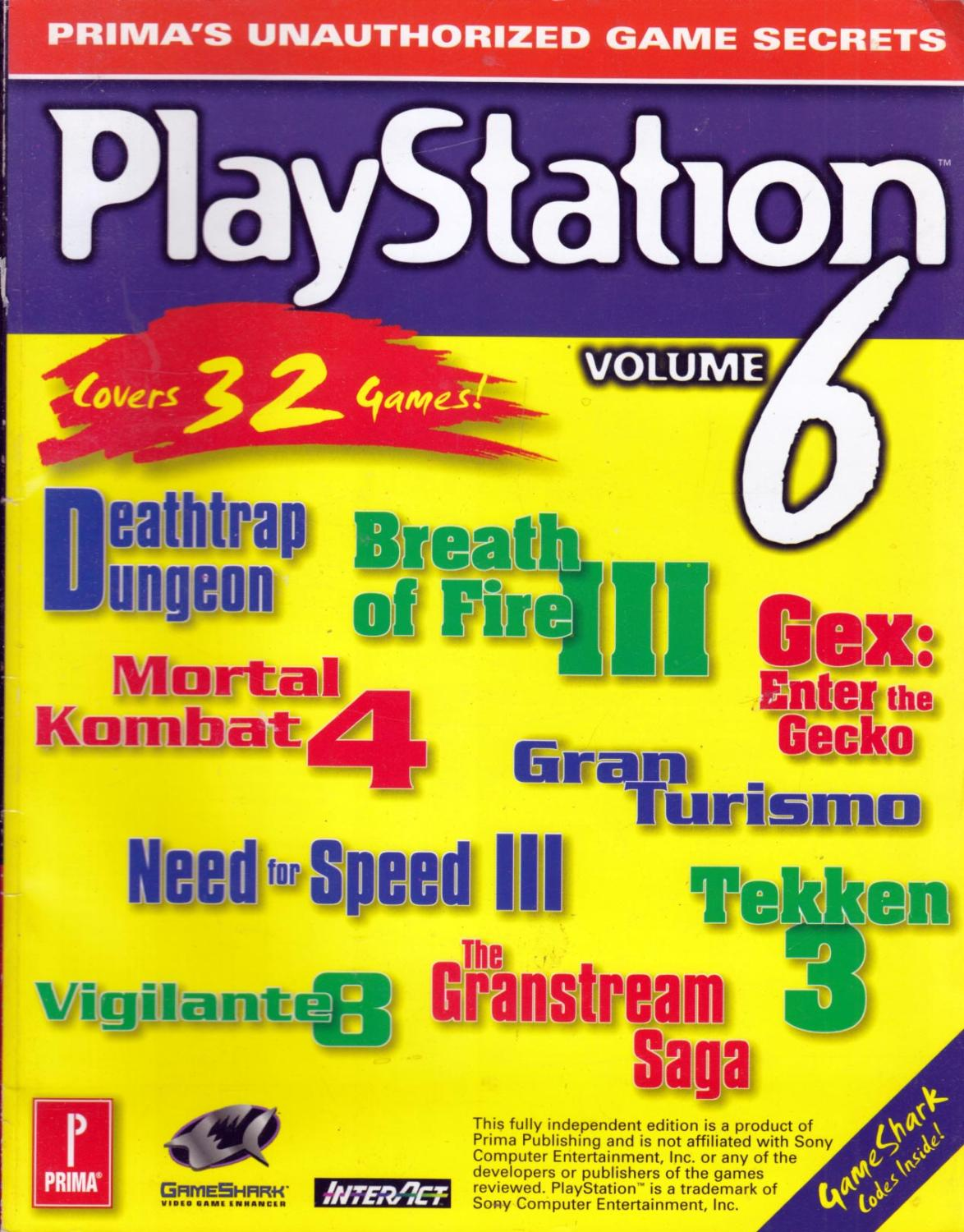 Playstation Game Secrets Volume 6 Prima S Unauthorized Game