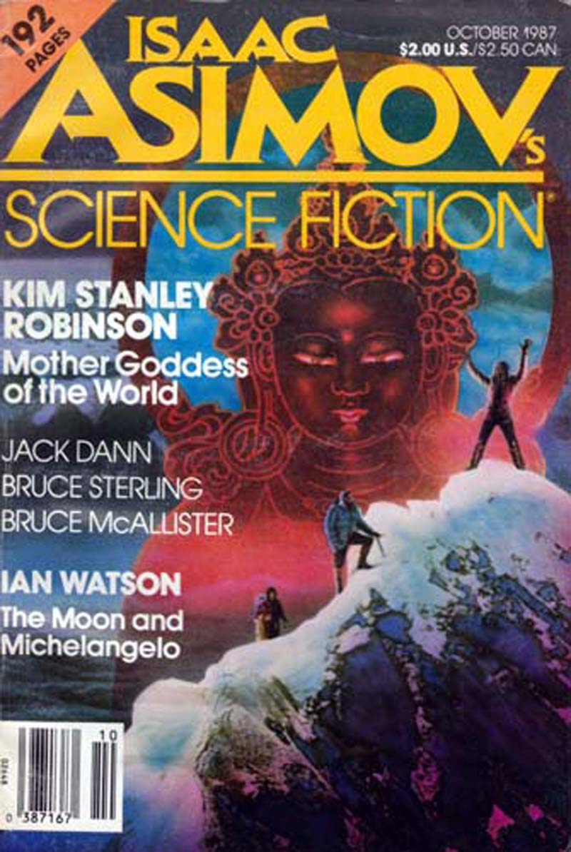 Isaac Asimov's Science Fiction Magazine October 1987 - Dozois, Gardner (editor); Robinson, Kim Stanley; Watson, Ian; Sterling, Bruce