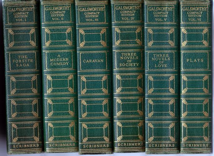 The Works of John Galsworthy [Complete in 6 Volumes] Compact Edition: Galsworthy, John