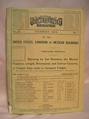 THE OFFICIAL RAILWAY EQUIPMENT REGISTER; VOL. XL, NO. 7; DECEMBER, 1924