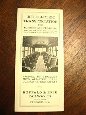 USE ELECTRIC TRANSPORTATION FOR BUSINESS AND PLEASURE THROUGH THE GRAPE BELST, OVER THE LINES OF ...
