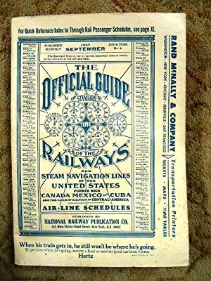 THE OFFICIAL GUIDE OF THE RAILWAYS; SEPTEMBER,