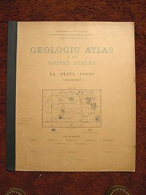 GEOLOGIC ATLAS OF THE UNITED STATES; LA PLATA FOLIO, COLORADO; FOLIO 60: Cross, Whitman, Arthur Coe...