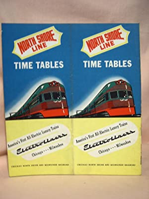 NORTH SHORE LINE [PASSENGER] TIME TABLES, FEBRUARY 9, 1941; CHICAGO-MILWAUKEE