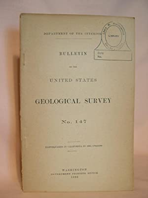 EARTHQUAKES IN CALIFORNIA IN 1895; BULLETIN OF THE UNITED STATES GEOLOGICAL SURVEY NO. 147: Perrine...