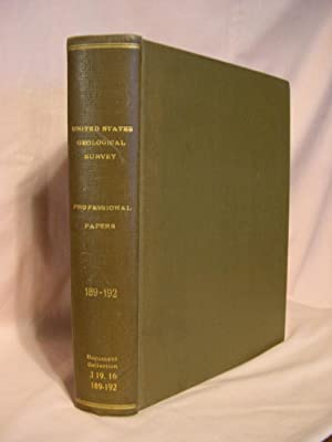 UNITED STATES GEOLOGICAL SURVEY PROFESSIONAL PAPERS 189: Loughlin, G.F., F.