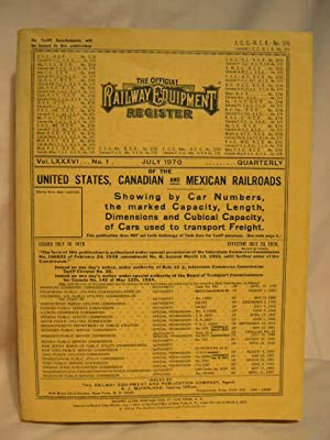 THE OFFICIAL RAILWAY EQUIPMENT REGISTER OF THE UNITED STATES, CANADIAN AND MEXICAN RAILROADS; VOL. ...