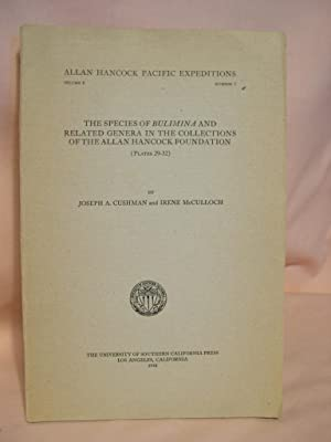 THE SPECIES OF BULIMINA AND RELATED GENERA IN THE COLLECTIONS OF THE ALLAN HANCOCK FOUNDATION: ...
