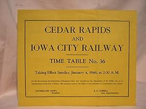 CEDAR RAPIDS AND IOWA CITY RAILWAY [CRANDIC EMPLOYEE] TIME TABLE 36