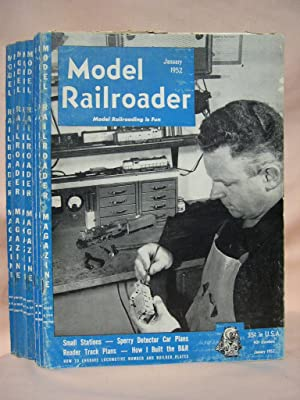 MODEL RAILROADER, VOLUME 19, ISSUE NUMBERS 1 - 12, JANUARY - DECEMBER, 1952: Page, John, editor