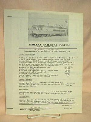 C.E.R.A. BULLETIN 21, INDIANA RAILROAD SYSTEM
