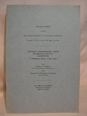 TERTIARY FORAMINIFERA FROM HUMBOLDT COUNTY, CALIFORNIA; A: Cushman, Joseph A.,