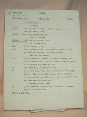 STRANGE. JUNE 6, 1955 [radio script]: Grant, Maxwell (Walter Gibson)