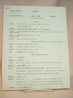 STRANGE. JUNE 7, 1955 [radio script]: Grant, Maxwell (Walter Gibson)