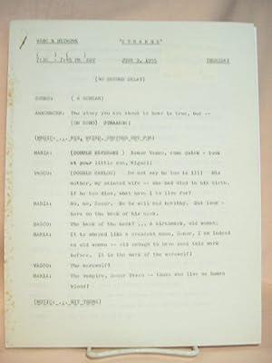 STRANGE. JUNE 9, 1955 [radio script]: Grant, Maxwell (Walter Gibson)