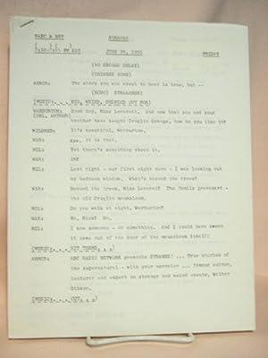 STRANGE. JUNE 24, 1955 [radio script]: Grant, Maxwell (Walter Gibson)