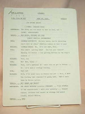 STRANGE. JUNE 28, 1955 [radio script]: Grant, Maxwell (Walter Gibson)