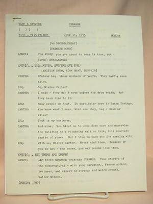 STRANGE. JULY 11, 1955 [radio script]: Grant, Maxwell (Walter Gibson)