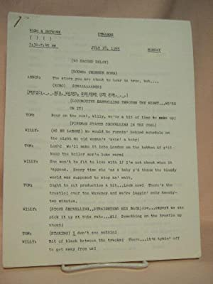 STRANGE. JULY 18, 1955 [radio script]: Grant, Maxwell (Walter Gibson)